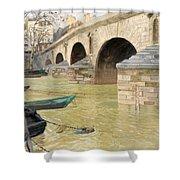 The Pont Marie. Paris Shower Curtain