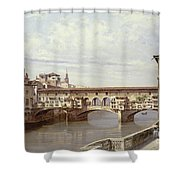 The Pontevecchio - Florence  Shower Curtain by Antonietta Brandeis