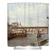 The Pontevecchio - Florence  Shower Curtain