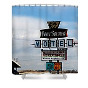 The Pony Soldier Motel On Route 66 Shower Curtain