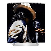 The Pop King Shower Curtain