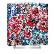 The Poppies Shower Curtain