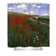 The Poppy Field Shower Curtain