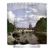 The Port At Quimper Shower Curtain