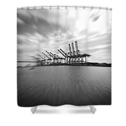 The Port Of Los Angeles Shower Curtain