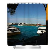 The Port Of Maldives  Shower Curtain