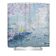 The Port Of Rotterdam Shower Curtain
