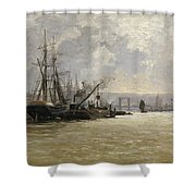 The Port Of Rouen Shower Curtain