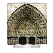 The Portal Of The Last Judgement Of Notre Dame De Paris Shower Curtain