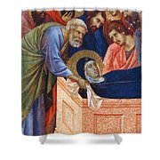 The Position Of Mary In The Tomb Fragment 1311 Shower Curtain