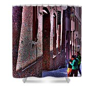 The Post Alley Gum Wall Shower Curtain