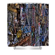 The Poster Wall Shower Curtain