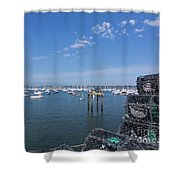 The Pot Man's View Shower Curtain
