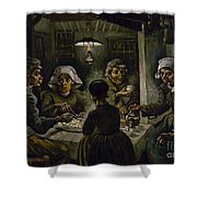 The Potato Eaters Shower Curtain