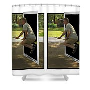The Potter Effect - Gently Cross Your Eyes And Focus On The Middle Image Shower Curtain