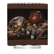 The Potter's Harvest Shower Curtain