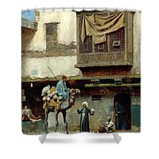 The Pottery Seller In Old City Shower Curtain