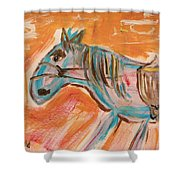 The Power Horse Shower Curtain