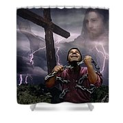 The Power Of Christ Shower Curtain