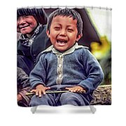 The Power Of Smiles Shower Curtain
