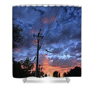 The Power Of Sunset Shower Curtain