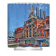 The Power Plant In The Baltimore Inner Harbor Shower Curtain