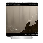 The Praying Monk Camelback Mountain Shower Curtain