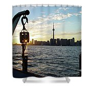 The Precision Of Sunset In The Harbour Shower Curtain