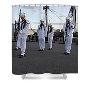 The Precision Rifle And Flag Drill Team Shower Curtain