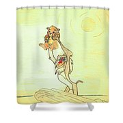 The Presentation Of Simba From Walt Disney's The Lion King Shower Curtain