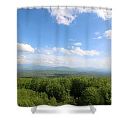 The Presidential Range From The Watchtower At Weeks State Park Shower Curtain