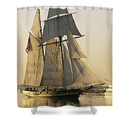 The Pride Of Baltimore Clipper Ship Shower Curtain