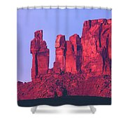 612717-the Priest And The Nuns  Shower Curtain