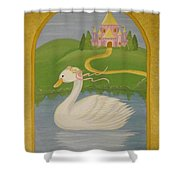 The Princess Swan Shower Curtain