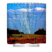 The Progression Of Progress - Electrified Shower Curtain