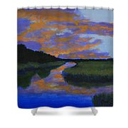 The Promise Of Night Shower Curtain