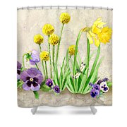 The Promise Of Spring - Dragonfly Shower Curtain