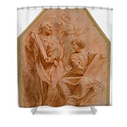 The Prophets David And Daniel Shower Curtain