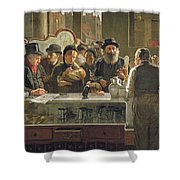 The Public Bar Shower Curtain by John Henry Henshall