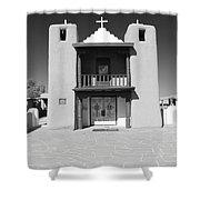 The Pueblo Church Shower Curtain