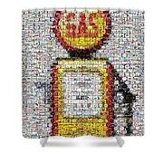 The Pump Mosaic Shower Curtain