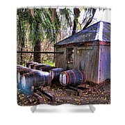 The Pumphouse Shower Curtain by Douglas Barnard