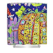 The Pumpkin Papers Shower Curtain