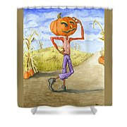 The Pumpkinhead Shower Curtain