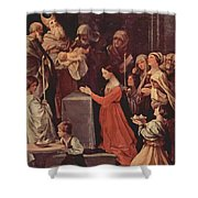 The Purification Of The Virgin 1640 Shower Curtain