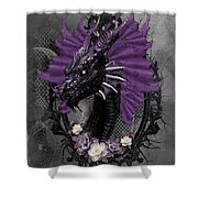 The Purple Dragon Shower Curtain