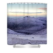 The Purple Headed Mountains Shower Curtain