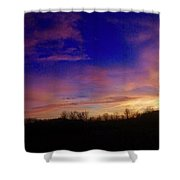 The Purple's Sunset Shower Curtain