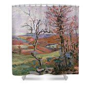 The Puy Barion At Crozant Shower Curtain by Jean Baptiste Armand Guillaumin