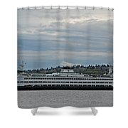 The Puyallup Ferry In Seattle Shower Curtain
